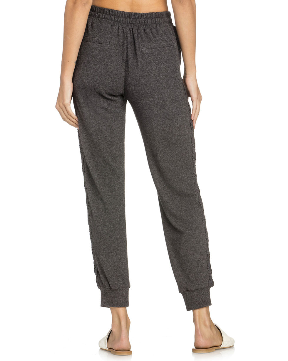 Miss Me Women's Lounge Pants, Charcoal, hi-res