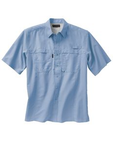 Dri Duck Men's Catch Short Sleeve Work Shirt - Big & Tall , Sky, hi-res