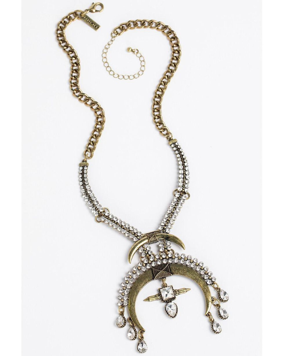 Idyllwind Women's Rhinestone Cowboy Necklace - Small, Gold, hi-res