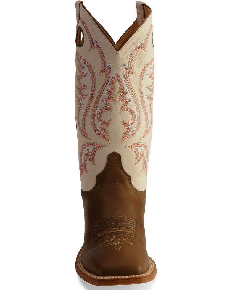 Justin Men's Bent Rail Cowboy Boots - Square Toe, Chocolate, hi-res