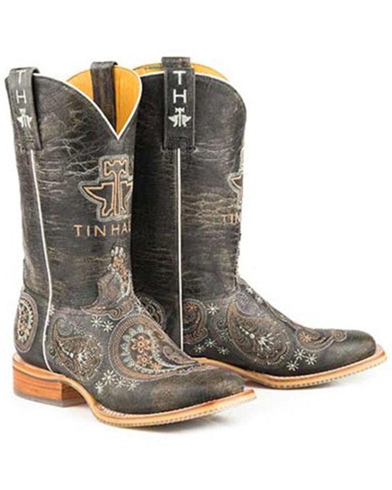 Tin Haul Women's Bandana Bandit Western Boots - Wide Square Toe, Tan, hi-res