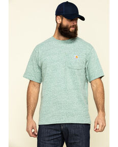 Carhartt Men's Heather Green Workwear Pocket Short Sleeve Work T-Shirt, Heather Green, hi-res