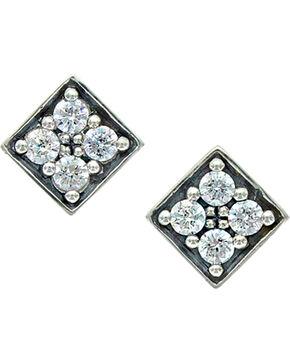Sterling Lane Women's Starlight's Core Stud Earrings , Silver, hi-res