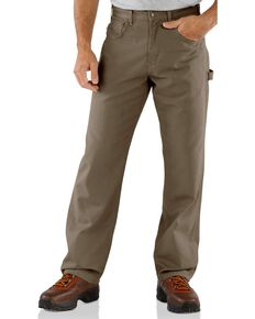 Carhartt Men's Loose Fit Canvas Carpenter Jeans, Mushroom, hi-res