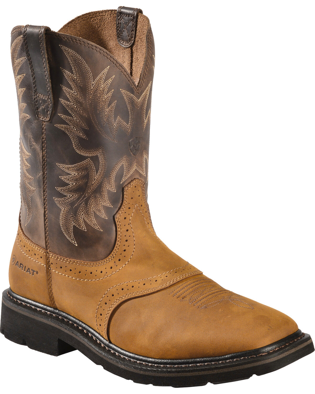 Ariat Sierra Pull-On Western Work Boots