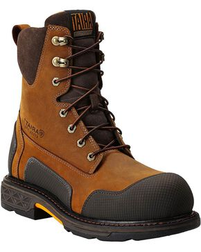 "Ariat Men's Overdrive® XTR 8"" w/ Side Zip ST Work Boots, Aged Bark, hi-res"