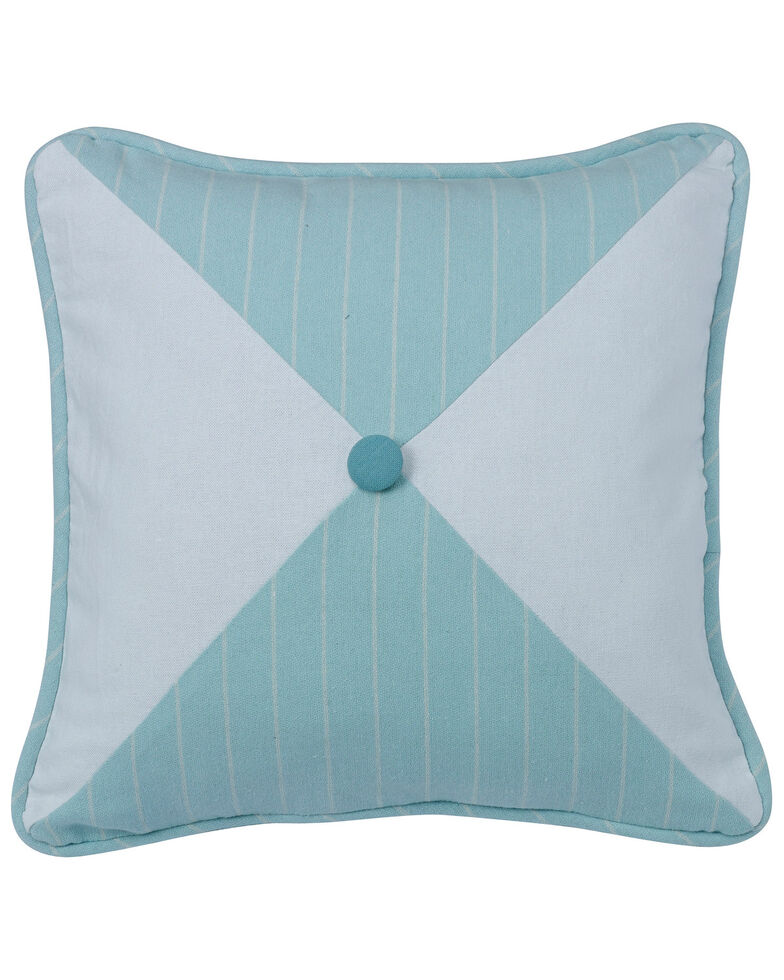 HiEnd Accents Catalina Striped and Chevron Print Reversible Pillow , Multi, hi-res