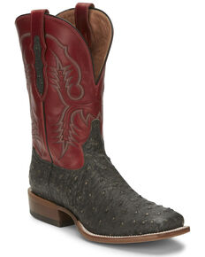 Tony Lama Men's Augustus Western Boots - Wide Square Toe, Grey, hi-res