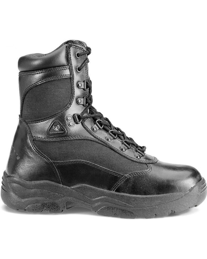Rocky Men's Fort Hood Duty Boots, Black, hi-res