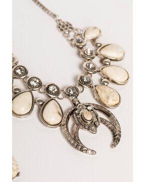 Shyanne® Women's Teardrop Marble Jewelry Set, Silver, hi-res