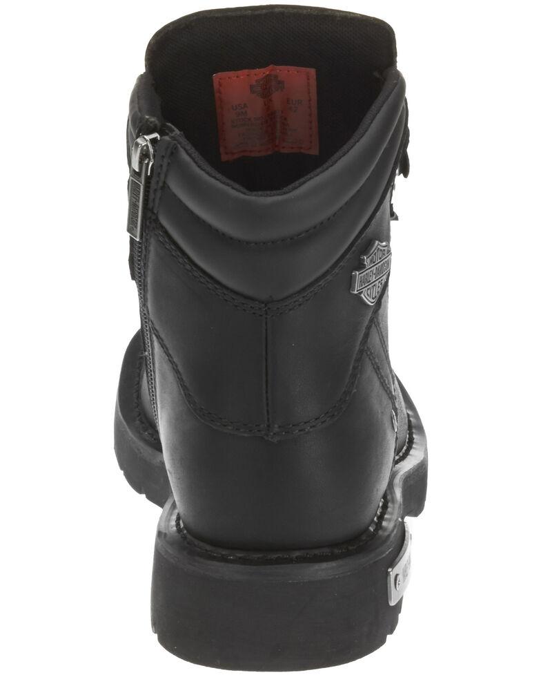 Harley Davidson Men's Electron Moto Boots - Round Toe, Black, hi-res