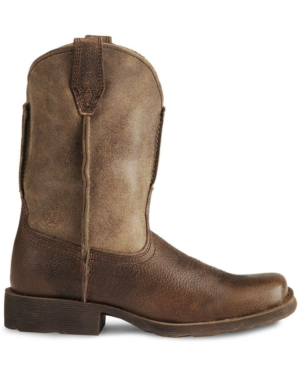 CHILDREN/'S//YOUTH ARIAT BROWN EARTH SQUARE TOE RAMBLER WESTERN BOOTS 10007602