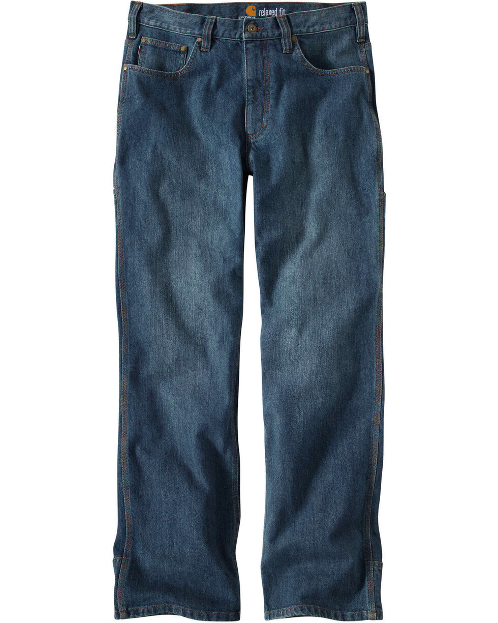 Carhartt Men's Work Flex Linden Jeans, Worn Denim, hi-res
