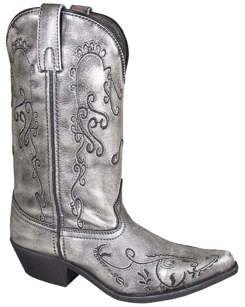 Smoky Mountain Women's Harlow Western Boots - Snip Toe, Silver, hi-res