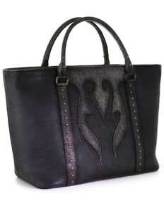 Corral Women's Black Studs & Overlay Purse, Black, hi-res
