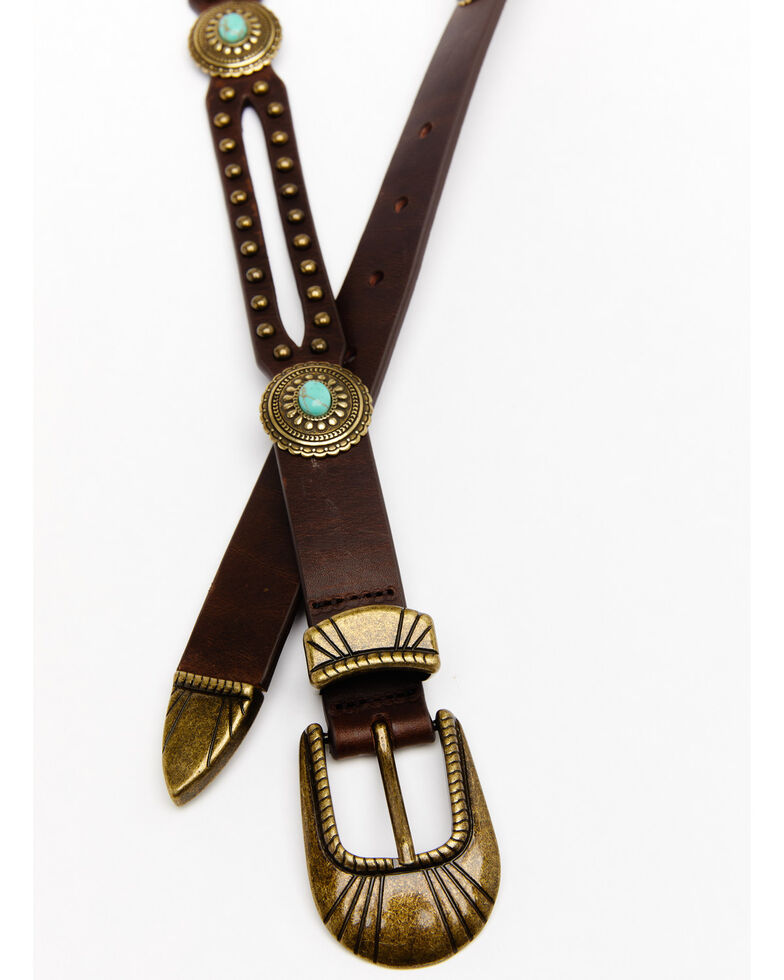 Idyllwind Women's Stay In The Loop Turquoise Belt, Brown, hi-res