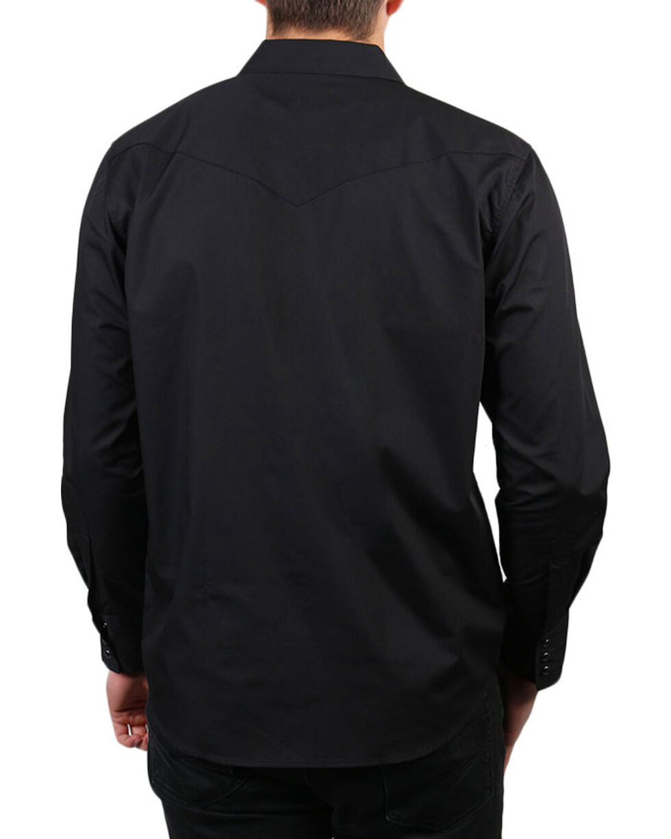 Gibson Trading Co. Men's Black Lava Long Sleeve Snap Shirt - 3X - 4X, Black, hi-res