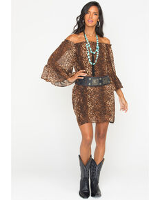 Cowgirl Justice Women's Cheetah Print Dress, Print, hi-res