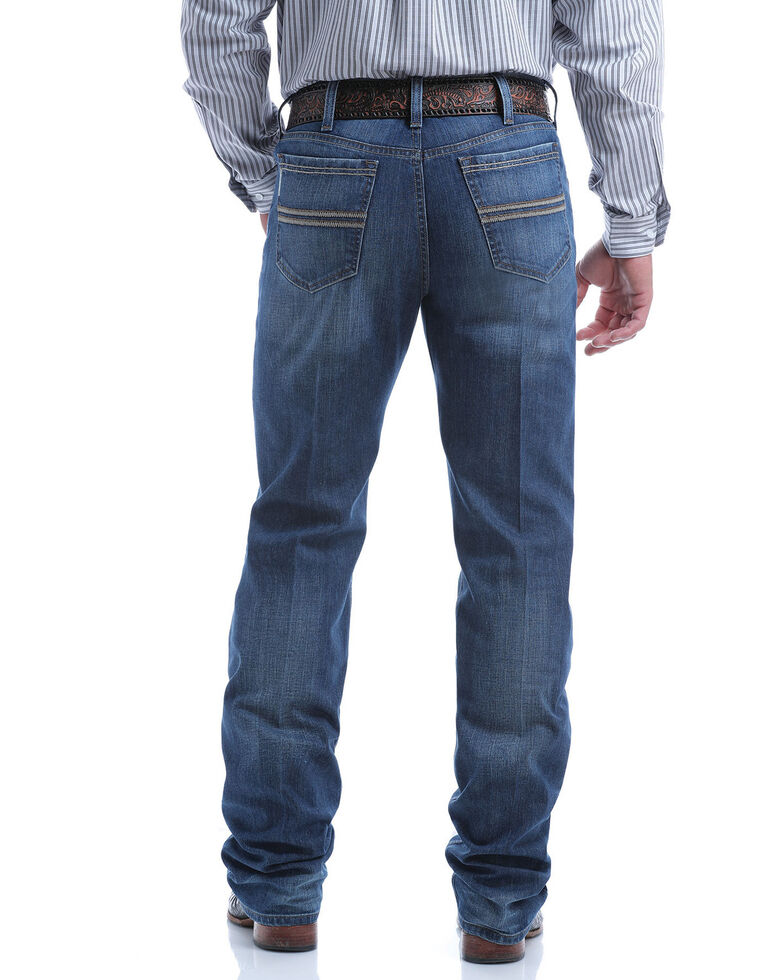 Cinch Men's Silver Label Performance Denim Stretch Slim Straight Jeans , Indigo, hi-res
