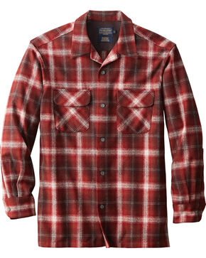 Pendleton Men's Original Board Shirt , Burgundy, hi-res