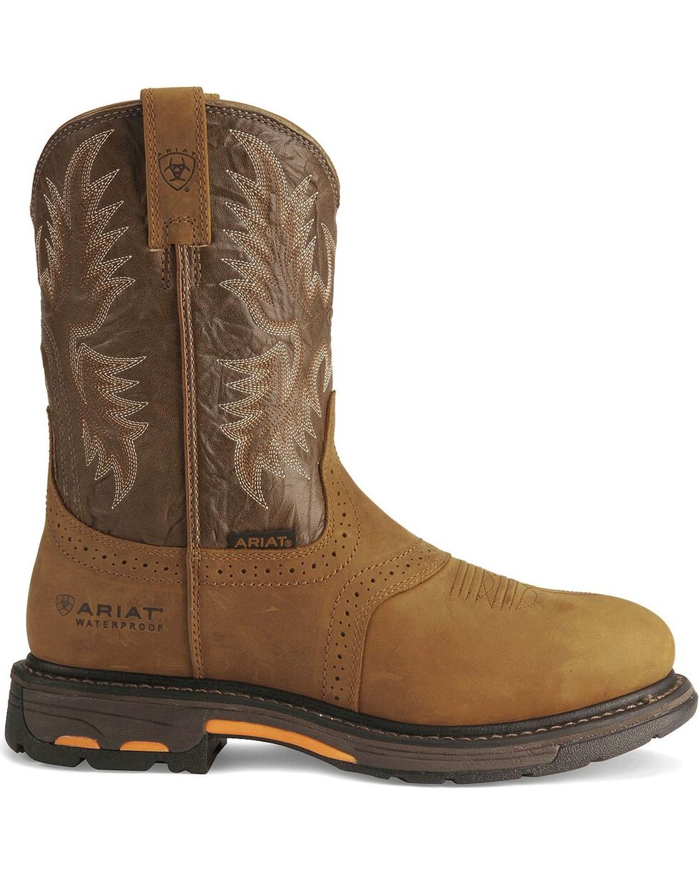 Ariat Men's Work-Hog Waterproof Pro Work Boots, Aged Bark, hi-res