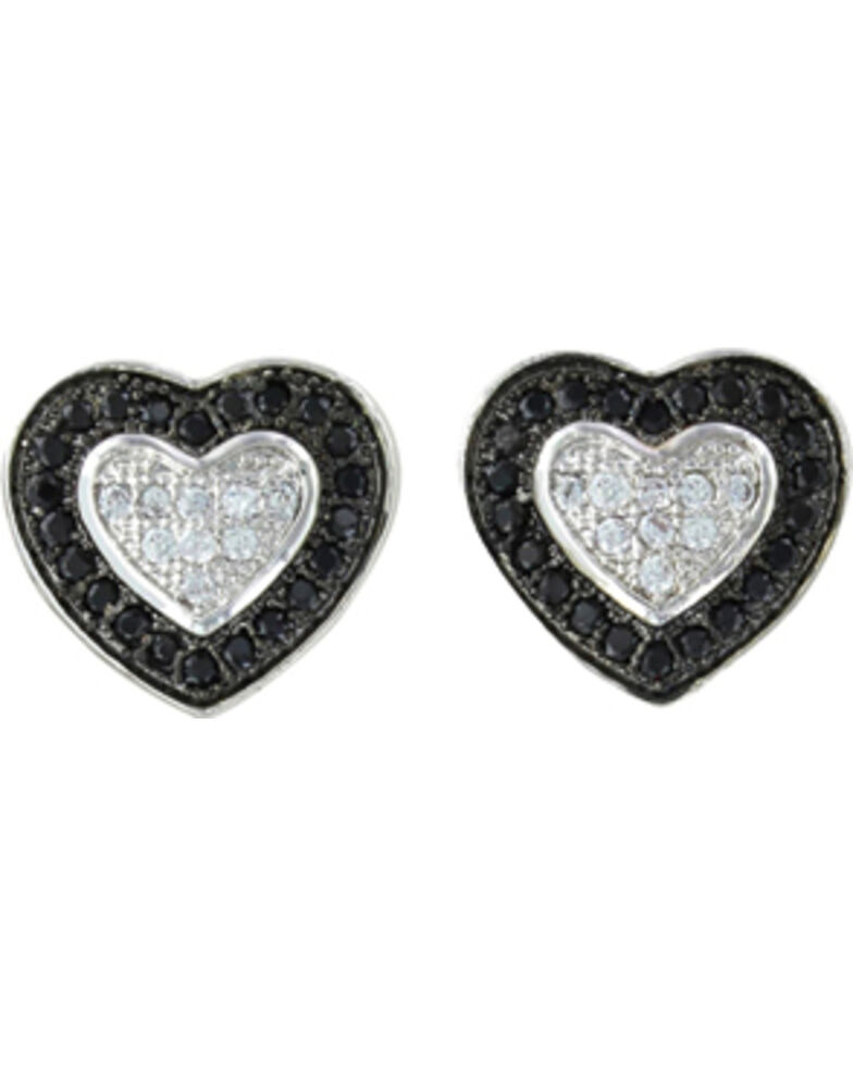 Montana Silversmiths Double Layer of Love Earrings, Silver, hi-res