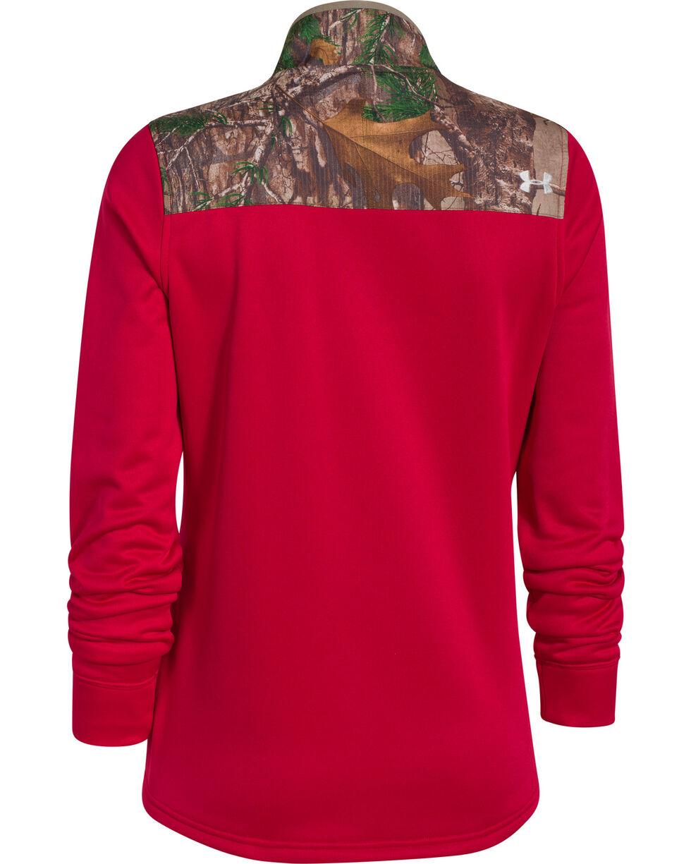 Under Armour Women's Caliber 1/2-Zip Pullover, Berry, hi-res