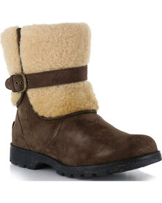 UGG® Womens Blayre II Water Resistant Casual Boots, Dark Brown, hi-res