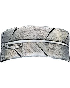 Montana Silversmiths Feather Bracelet, Silver, hi-res