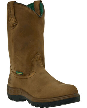 John Deere® Men's WCT Waterproof Steel Toe Work Boots, Tan, hi-res