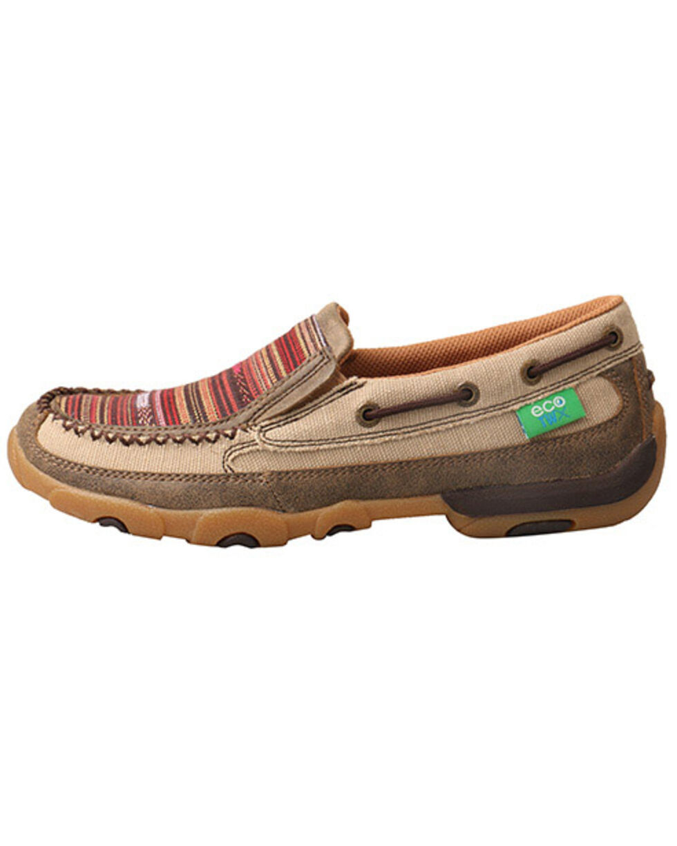 Twisted X Women's Multicolor ECO TWX Driving Moccasin Shoes - Moc Toe, Beige/khaki, hi-res