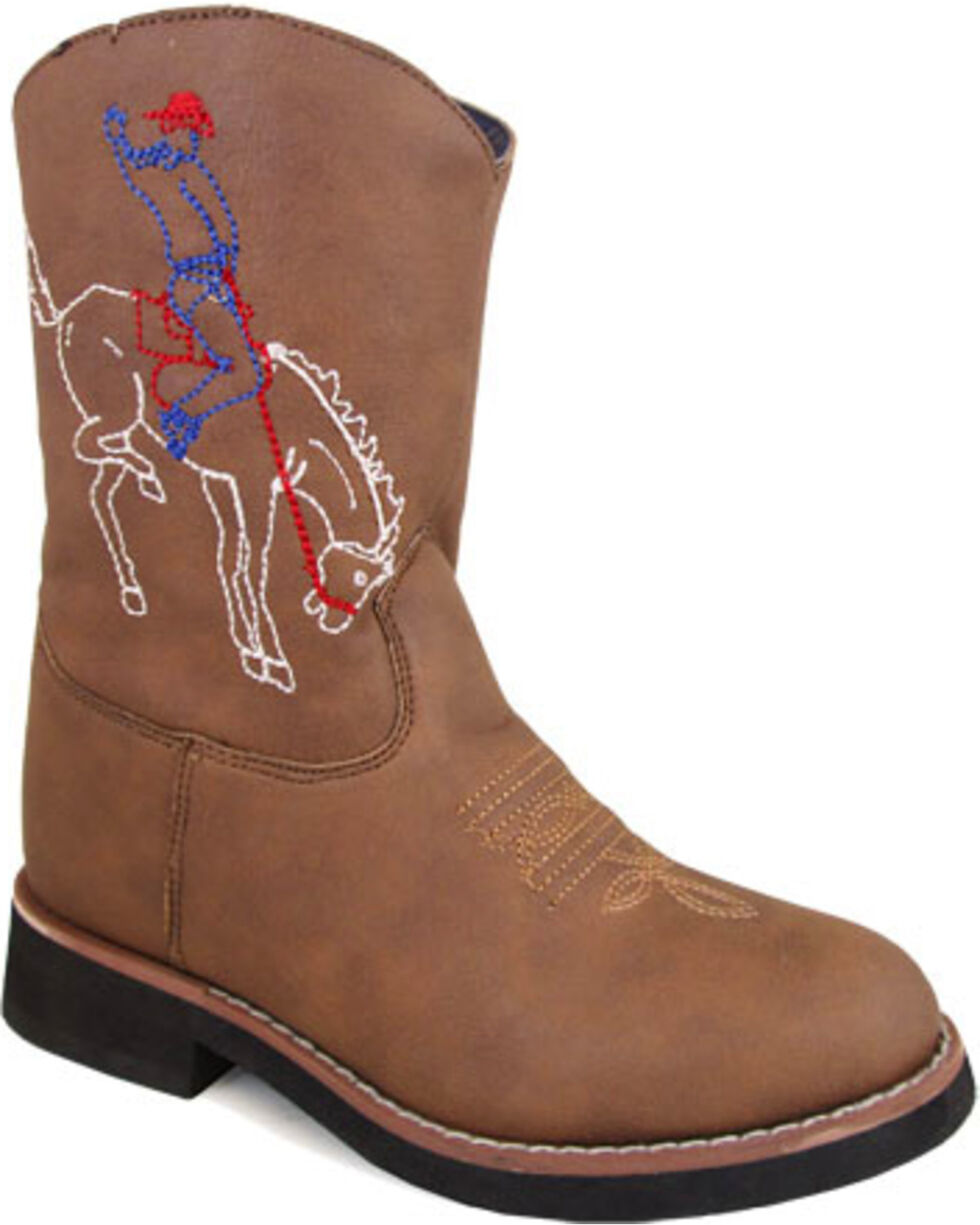 Smoky Mountain Boys' Brown Night Horse Boots - Round Toe , Brown, hi-res
