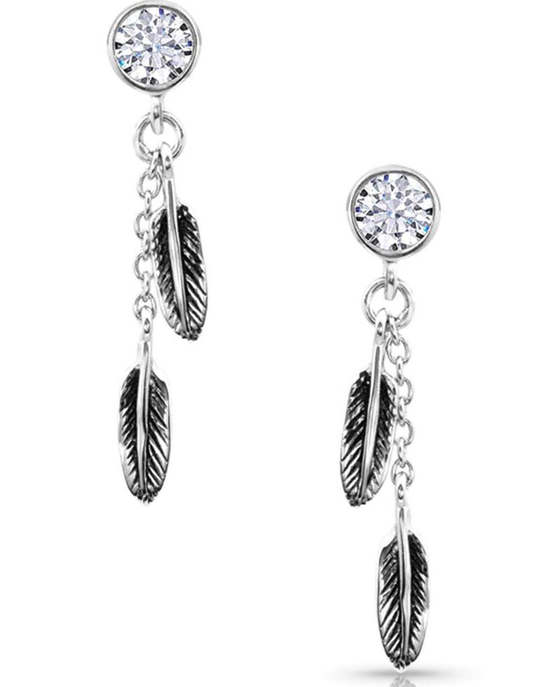 Montana Silversmiths Women's Love & Desire Post Drop Earrings, Silver, hi-res