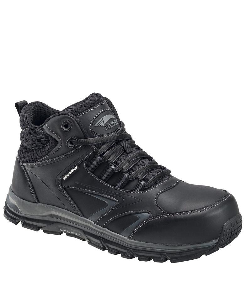 Avenger Men's Thresher Waterproof Work Shoes - Alloy Toe, Black, hi-res