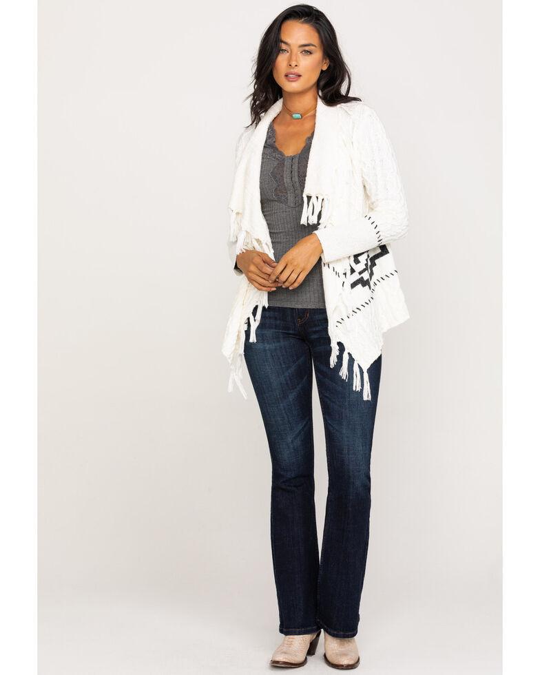 Idyllwind Women's Southern Comfort Fringe Sweater, Ivory, hi-res