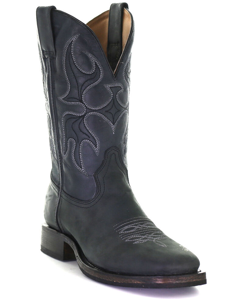 Corral Men's Black Rodeo Western Boots - Square Toe, Black, hi-res