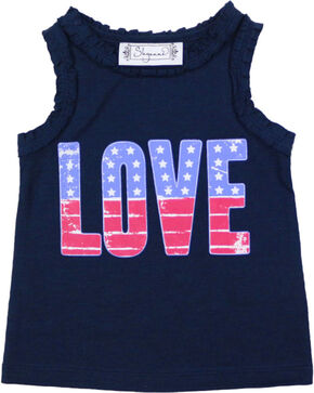 Shyanne® Girls' Americana Love Tank Top , Navy, hi-res