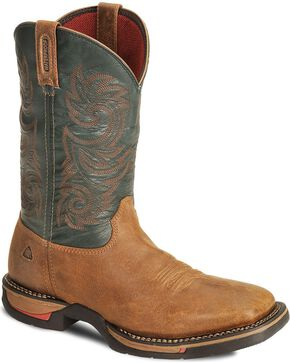 Rocky Men's Waterproof Long Range Western Boots, Brown, hi-res