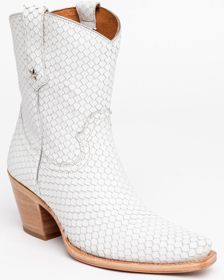 Idyllwind Women's Snake My Way Western Booties, White, hi-res