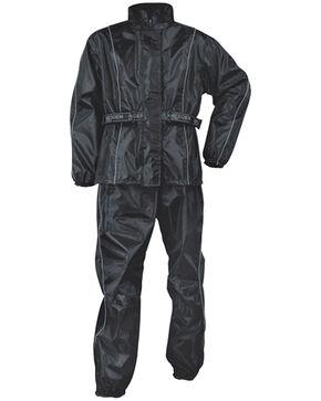 Milwaukee Leather Men's Oxford Nylon Waterproof Rain Suit, Black, hi-res
