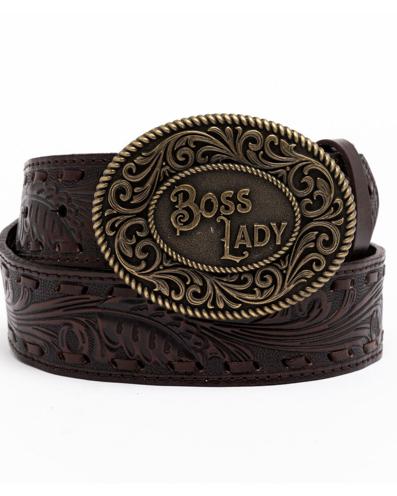 Idyllwind Women's She's The Boss Belt, Brown, hi-res