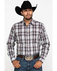 Wrangler Retro Men's Brown Paisley Print Long Sleeve Western Shirt - Tall , Brown, hi-res