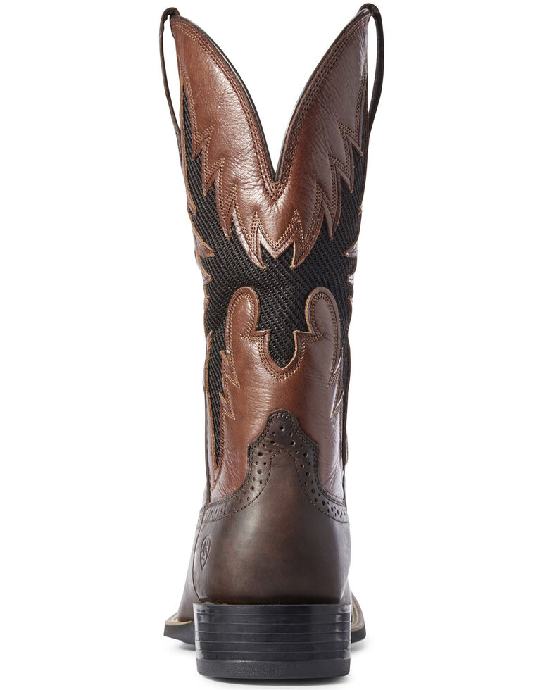 Ariat Men's Sport Breezy VentTEK Western Boots - Wide Square Toe, Brown, hi-res