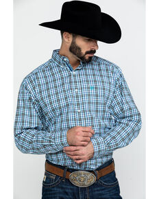 Ariat Men's Baccus Plaid Long Sleeve Western Shirt , Multi, hi-res