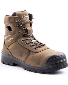 Terra Men's Marshal Work Boots - Composite Toe, Brown, hi-res