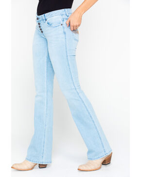 Idyllwind Women's Roadtrip Button Front Jeans, Blue, hi-res