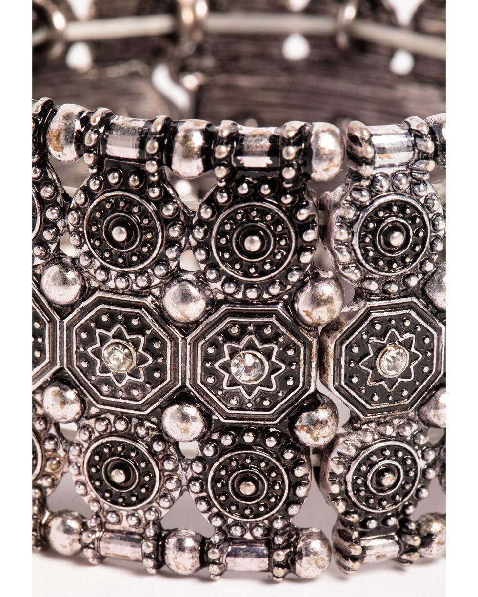 Shyanne Women's Silver Stretch Cuff Bracelet, Silver, hi-res