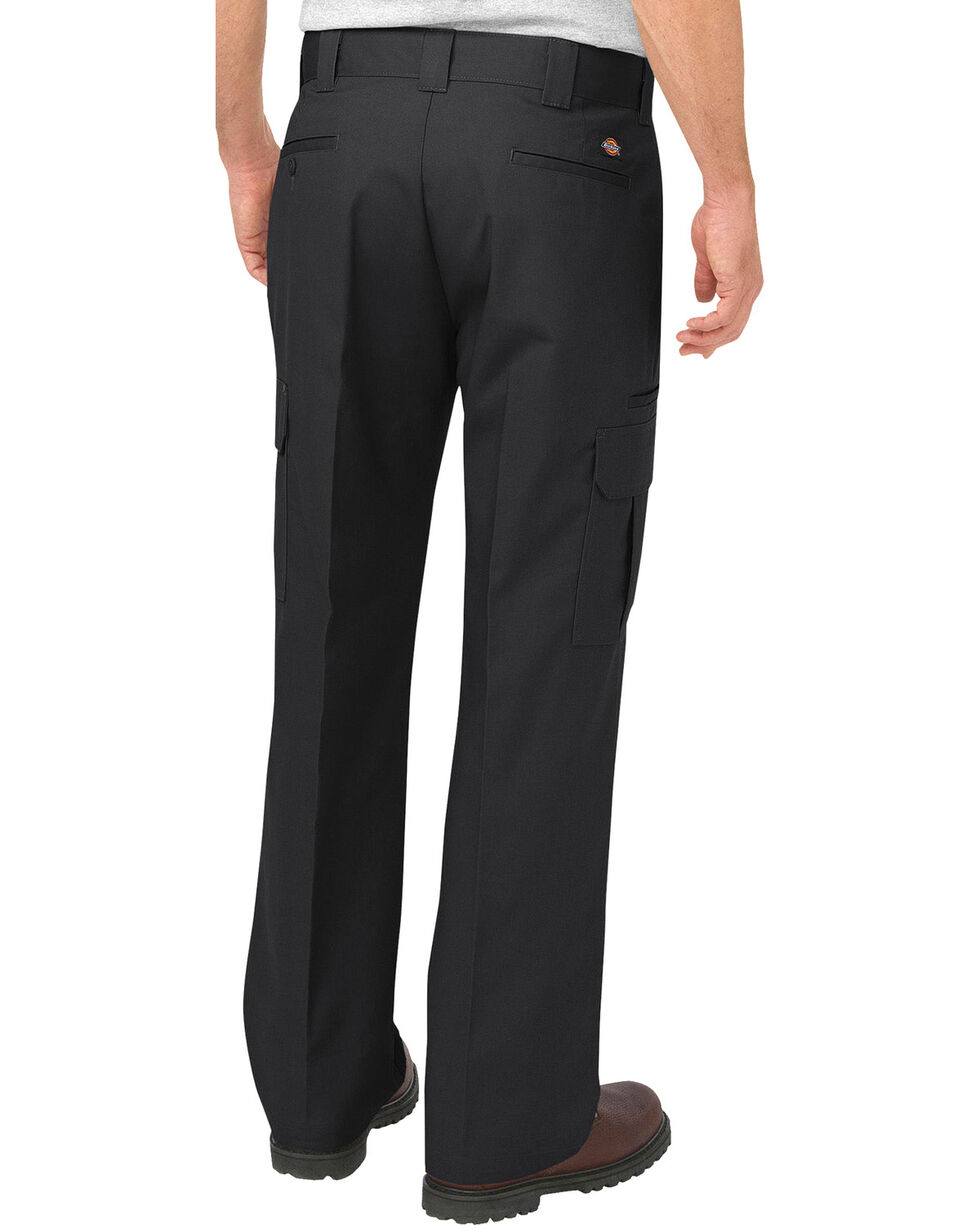 Dickies Men's FLEX Relaxed Fit Straight Leg Cargo Pants, Black, hi-res
