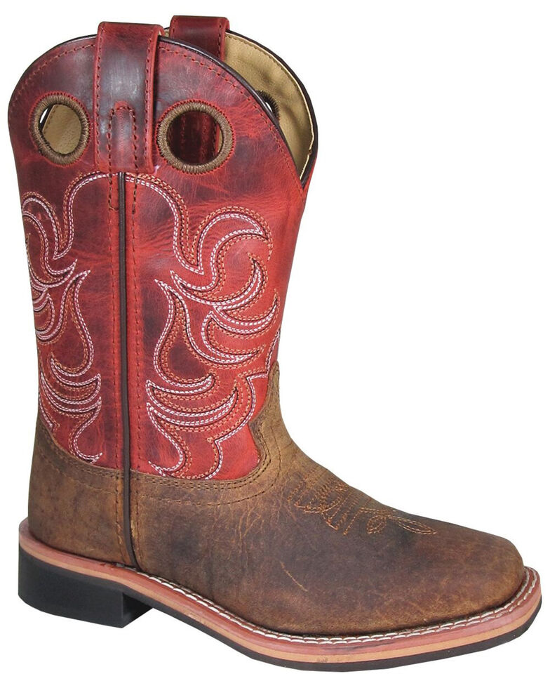 Smoky Mountain Boys' Jesse Western Boots - Square Toe, Brown, hi-res