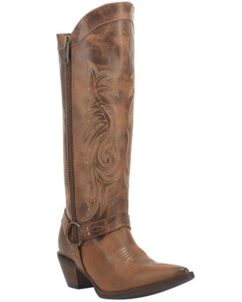 Laredo Women's Diamante Western Boots - Snip Toe, Brown, hi-res